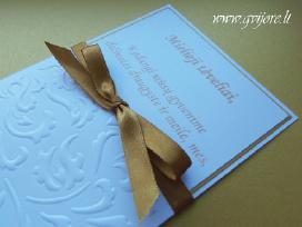 Vestuviniai kvietimai ir kt. vestuvinė atributika - nuotraukos Nr. 6