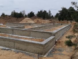 Pamatu irengimas,betonavimas