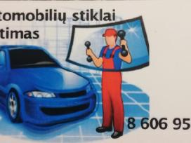 Automobilių stiklų keitimas.