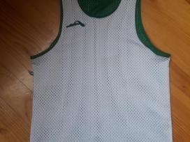 Audimas żalia-balta dvipusiai marškinėliai