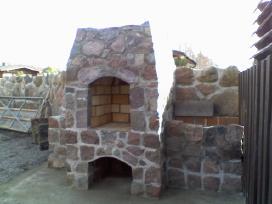 Lauko zidiniai naturalaus akmens darbai