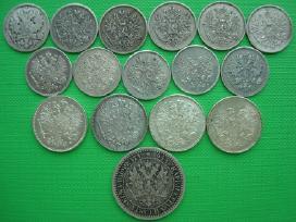 Rusija suomija 25-50 pennia1894-1917 1 markka 1865