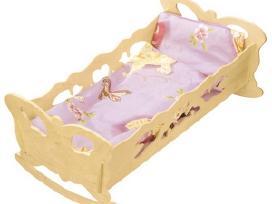 Raižyta medinė lovytė-supuoklė - 14