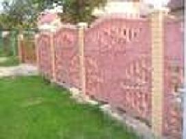 Betoninės dekoratyvinės segmentinės tvoros akcija