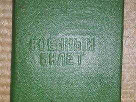 Dėklas karinio bilieto iš taribinių laikų