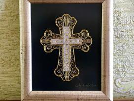 Prabangus kryžius suvenyras rėmelis