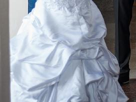 Prabangi atlasinė vestuvinė suknelė - nuotraukos Nr. 2