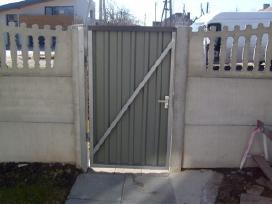 Vartu virinimas,betoniniu tvoru gamyba,montavimas.