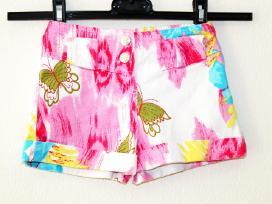 Gražūs džinsiniai šortai su drugeliais mergaitei