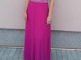 Fuksijos spalvos suknelė