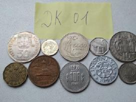 Įvairios apyvartinės monetos