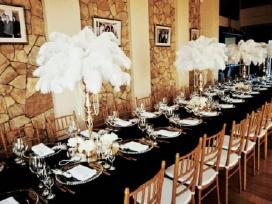 Baldų nuoma (kėdės, stalai, indai, staltiesės)