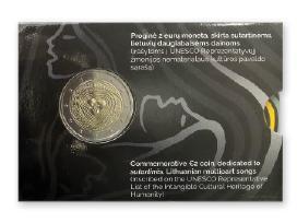2 eurų moneta, skirta sutartinėms dainoms (bu)