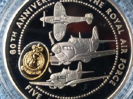 Moneta guernsey 1998m. 5 svarai, sidabras