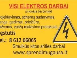 Elektros darbai. Varžų matavimas Vilniuje