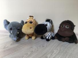 4 pliušiniai žaislai