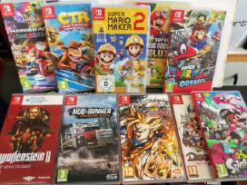 Nintendo Switch žaidimai Zelda, Crash, Super Mario