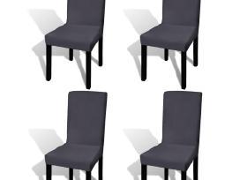 Vidaxl Tamprūs užvalkalai kėdėms, 4 vnt. 131425