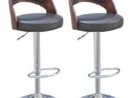 Vidaxl Baro kėdės, 2 vnt., medienos rėmas 242200