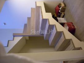 Betoniniai laiptai, medine laiptu apdaila - nuotraukos Nr. 9