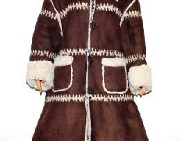 Šiltas paltukas-kailinukai (dublionkė) mergaitei