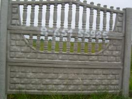 Betonines tvoros,stulpai,sulinio ziedai.