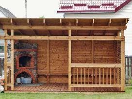 Impregnuotos medienos pavesinė 3x5m