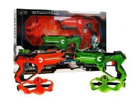 Lazeriniai vaikiški pistoletai su kaukėmis