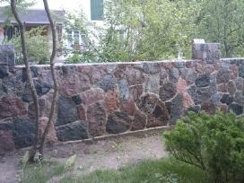 Akmens muras, akmens muro darbai,akmenskaldziai
