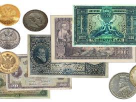 Perku monetas ir banknotus kolekcijai
