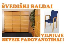 Skandinaviškos biuro spintelės su žaliuzėmis