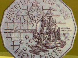 Monetos Australia 1988m. 8 vnt. cu-ni