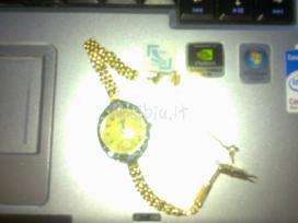 Auksinis su deimantais senovinis tisot laikrodukas