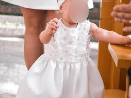 Rankų darbo krikšto suknelė mergaitei