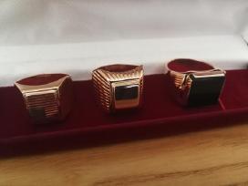 Sovietu laiku Rusiško aukso vyriški žiedai nauji.