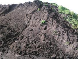 Kompostas, Žvyras, Smelis nedideliais kiekiais