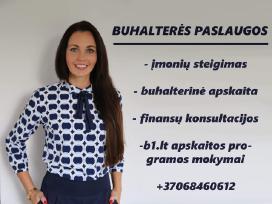 Buhalterė, įmonių steigimas buhalterinės paslaugos