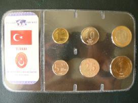 Turkija 2005-2007m mix rinkinukas unc
