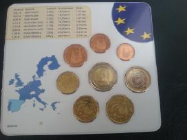 Ispanija 2001m Euro rinkinukas Unc