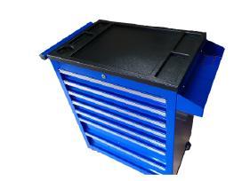 Tvirtas kokybiškas 7-nių stalčių įrankių vežimėlis