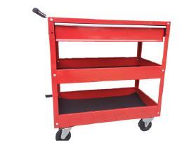Įrankių vežimėlis su 2 loveliais ir 1 stalčiumi