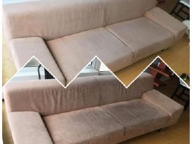 Minkštų baldų, sofos, čiužinio valymas.
