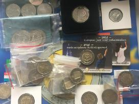 2 1,5 5 proginiu euru monetos proginiai eurai euro