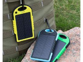 5000mah Nešiojama Saulės Baterija (Powerbank)