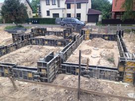 Klojiniai , klojinių nuoma , betonavimo darbai