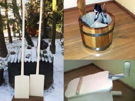 Mediniai duonkubiliai, kibirai, bokalai, kubilai.. - nuotraukos Nr. 2