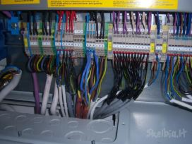 Elektros instaliaciojos darbai Elektrikas