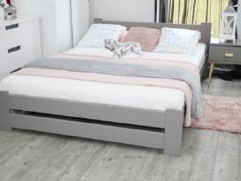 Moderni natūralaus medžio masyvo lova 160x200