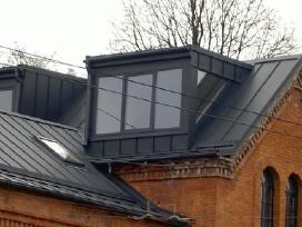 Plieninių stogų-sienų dangų gamyba