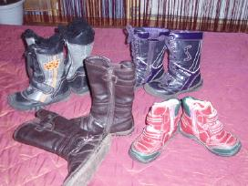 Įvairaus dydžio,geros būklės ilgaauliai batai.